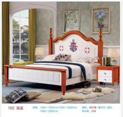 Disegno del pirata della base di legno solido del re Size per l'insieme di camera da letto dell'appartamento