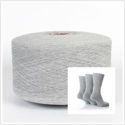 Ne 12/1年16/1年、20/1は再生された綿ポリエステルによって混ぜられたヤーンを回す開放端を編むSokcsのための綿の糸をリサイクルした