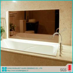 4mm/6mmの明確な浮遊物の銅自由なミラー超明確な銀製ミラーのガラスアルミニウムミラー/無枠ミラー/円形ミラー/浴室または装飾