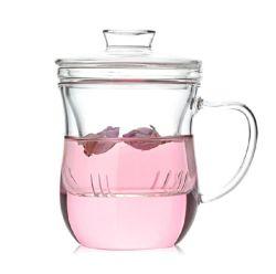 Parede simples Freedom caneca de chá de vidro com tampa
