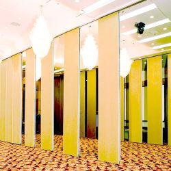 방음 사무실 접히는 벽 룸 분배자 스크린을 미끄러지는 움직일 수 있는 칸막이벽