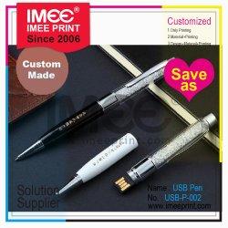 Imee kundenspezifischer empfindlicher vorzüglicher hoch entwickelter Ballpen Ballpoint-Kugelschreiber-Plastik-USB-grelle Platte