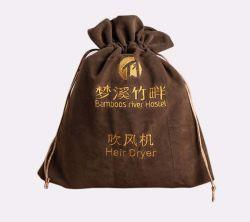 Personalizar o secador de cabelos Bag Saco para roupa suja de veludo para armazenamento de secador de cabelo