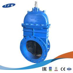 Bridas de hierro dúctil no termina el aumento de la válvula de compuerta de control de la cola de agua