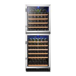 i doppi portelli 380L si raddoppiano dispositivo di raffreddamento di vino di raffreddamento del ventilatore del compressore di zona