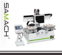 Processus de bois solide mortaise slot machine CNC de perforation de la machinerie