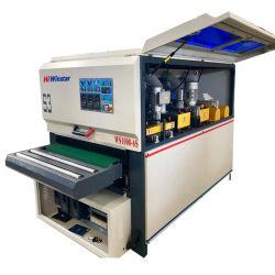 Ws1000-6s Maquinaria piso de madera cepillo de la puerta de perfil de banda lijadora de disco pulidora lijadora automática