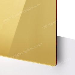 Berufshersteller, der 3mm Gold4*6 Pleksi Acrylspiegel-Blatt-Acrylspiegel-Blatt bekanntmacht