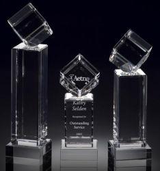 Cube troféu de cristal Óptico