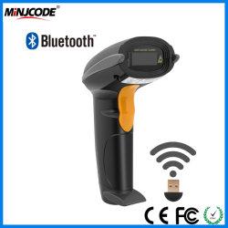 Minjcode, Scanner de código de barras sem fio Bluetooth, 1d. O dispositivo leitor de código de barras baratos, pistola de scanner USB, USB/RS232 porta PS2/MJ2810