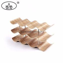 2020 Comptoir Ustensiles de cuisine en bois de pin de contreplaqué Porte-bouteille de vin pour le stockage en rack statif