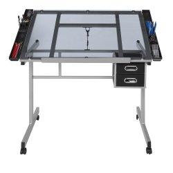El material de vidrio artesanal mesa de redacción de escritorio mesa de dibujo del artista