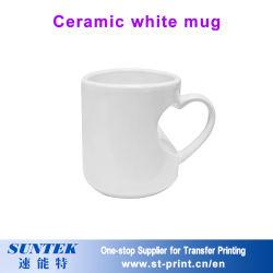 11oz Сублимация керамические белого кружка фарфор для передачи тепла печать