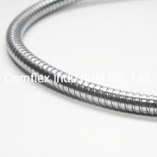 Conducto metálico flexible de acero inoxidable, de los cables eléctricos/.