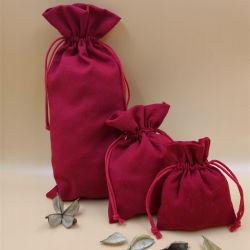 Saco para roupa suja de algodão dom, Personalizar Wholesales Tecido Ecycled Muslin reutilizáveis caliça jóias de lona Natural Vinho Relógios Saco de promoção comercial de Embalagens