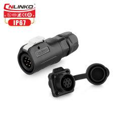 Cnlinko 7 PinのプラグPBTのプラスチックIP65はケーブルコネクタを防水する