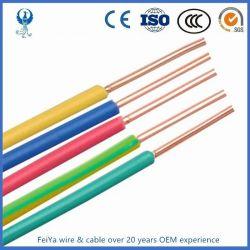 Tension faible 450/750V Le fil de bâtiment en caoutchouc de silicone PVC Maison isolée en nylon de câblage Les câbles électriques en cuivre flexible de contrôle du câble électrique