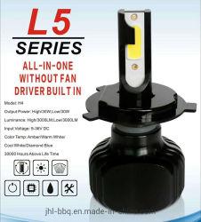 L5 Sans ventilateur auto voiture ampoule de phare HID Lampe de projecteur avec LED 12V 48W*2 La Tête de LampeAmpoule de LEDH4 H7 H8 H9 H11 9005 9006 et 880 HID 35W 55W
