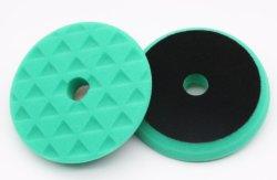 Stratch 정리를 위한 150mm 녹색 거친 6inch 갯솜 담황색으로 물들이는 패드