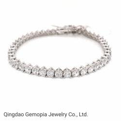 925 K Prata Bracelete Ténis Moda jóias de ouro