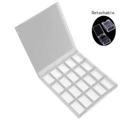 Estojo de armazenamento de Arte de unhas de acrílico DIY Caixa Removablejewelry