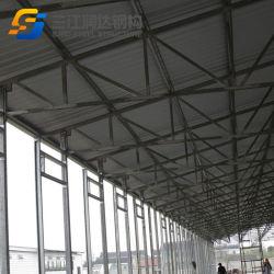Diseño de la estructura de acero prefabricados de ventilación de túneles de la casa de pollo broiler granja avícola de la máquina