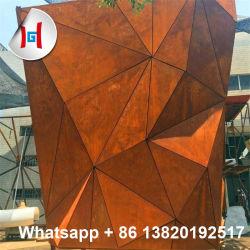 Skulptur/Pflanzer/Bildschirm/Brunnen/Garten/Mailbox perforierte Corten Stahlplatte