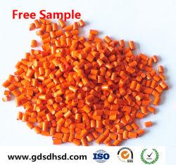 Le PEHD Lot maître des granules de couleur orange pour\composé de classe alimentaire