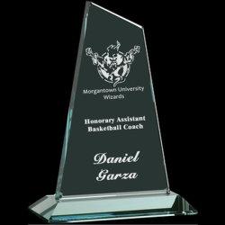 Cristal pequeño pico verde jade Premios trofeo