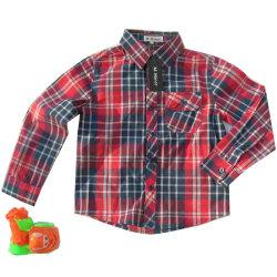 Der Hemd-Kind-Kleidung-Kind-Abnützung-Kinder des Form gesponnenen Plaid-Kindes Hemd
