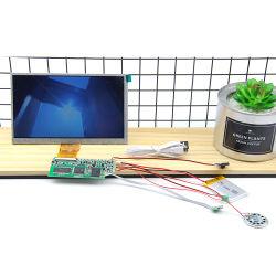 7 pouces haute résolution contrôle magnétique Petit Module d'affichage LCD du lecteur vidéo pour panneau TFT Brochure Carte d'invitation
