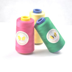 Entièrement approvisionné en fil à coudre coudre bon Polyester Factory