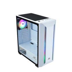 2020년 새로운 디자인과 섬세한 핫 세일 ATX 게이밍 컴퓨터 PC RGB 스트립 디자인 Cl7404 RGB 흰색이 있는 케이스