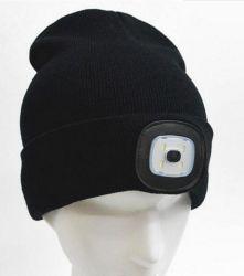 Beanie Hat com luz LED carregada