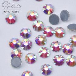 Fabriek Groothandel Duits intensieve Glue Hotfix Stone SS20 Glass Crystal AB Hot Fix-strass-stones voor trouwjurk