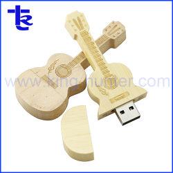 Бамбуковые деревянные Guitar USB флэш-диск привода ручки двери водителя