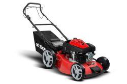 Торговая марка Sanli E-Start один ключ запуска бензинового двигателя газоне косилка 18дюймовых стальных пластин деки 160cc Slef-Propelled
