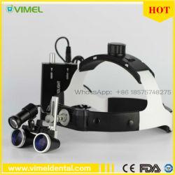 3.5X loupe de la loupe binoculaire de chirurgie dentaire en verre avec voyant LED
