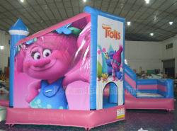 Caixa inflável rosa casa castelo insuflável para venda