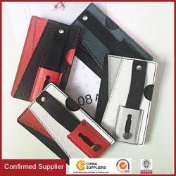 Универсальный телефон слота для карт памяти карманы держателя кредитной карты встроенная подставка PU Wallet для телефона