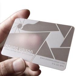 En plastique transparent en PVC personnalisée de cartes de visite avec logo