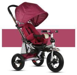 赤ん坊の三輪車は360の回転子供のベビーカーTrikeが付いている三輪車をからかう