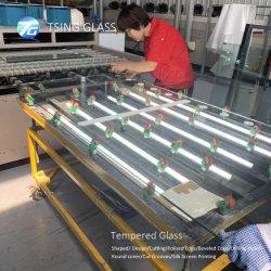 gemilderte 4mm 6mm 8mm der flache Kristallpolierrand härten Regal-Tabletop Möbel-Glasglas mit ISO/Ce/SGS Bescheinigung ab