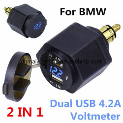 Doppel-USB-Aufladeeinheits-Adapter-Kontaktbuchse für BMW-LÄRM Hella Stecker