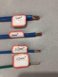 Singolo rame 6mm del collegare elettrico isolato PVC 4mm 2.5mm 1.5mm