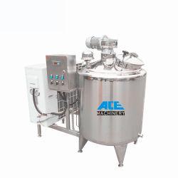 Aço inoxidável utilizado leite do tanque Resfriador 500 litros de leite completo planta de processamento