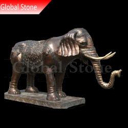 Elefante Animal Escultura em bronze personalizados (GSBR-195)