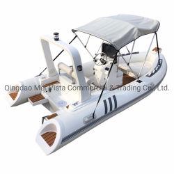 堅い底が付いている普及した白いロウイングPVC膨脹可能なボート
