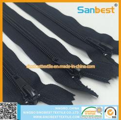 100 % nylon fermeture éclair avec bande souple pour les chaussures