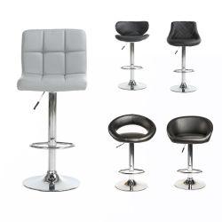 現代PU革棒椅子の台所商業ステンレス鋼のバースツール